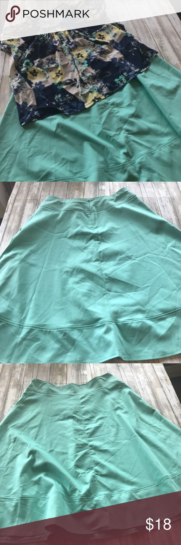 """Lane Bryant skirt Mint green skirt new without tags. Part of the Lane Bryant modernist collection.Waist 18"""" length 29"""" Lane Bryant Skirts Circle & Skater"""