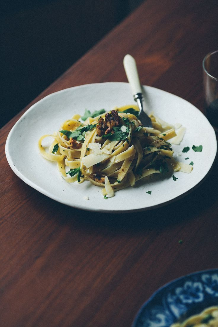 Pasta With Walnuts Lemon And Herbs Notwithoutsalt Com