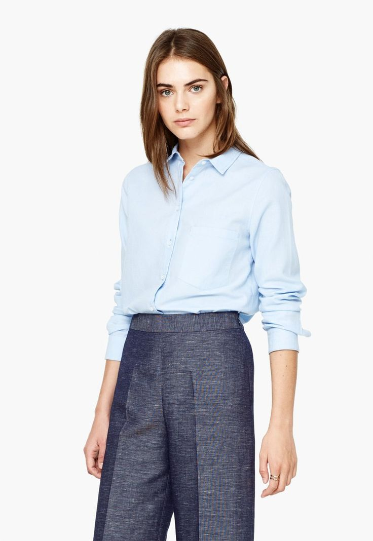 Camasa bleu Oxford - MANGO