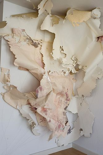 Val Britton - map-like mixed media & paper works