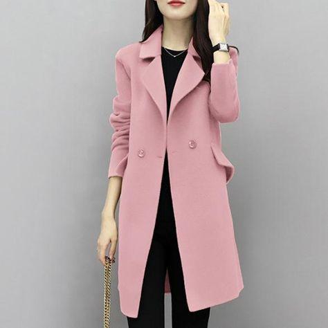 Encontrar Más De lana y Mezclas Información acerca de 2017new Venta  caliente mujer abrigo de lana de alta calidad chaqueta de invierno mujeres  de lana larga ... a02cb9f5b49b