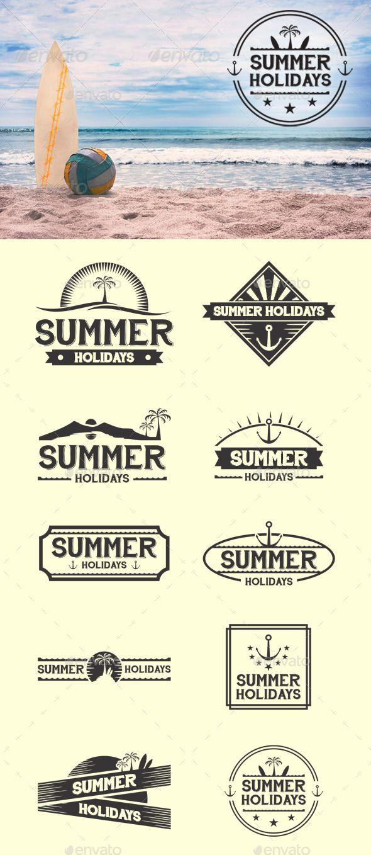 Retro Summer Badges Template #design Download: http://graphicriver.net/item/retro-summer-badges/12430984?ref=ksioks