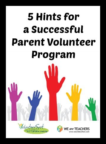 I really like this.  Every teacher can use good volunteers.  Read this and want no more!  5 Hurdles to a Successful Parent Volunteer Program (and How to Overcome Them)