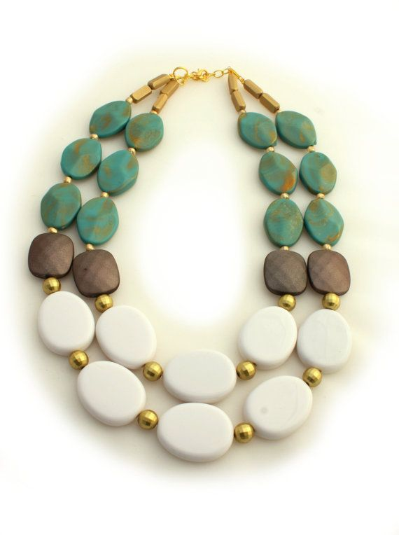 Turquoise Statement Necklace, this would go so well with my new maxi skirt...