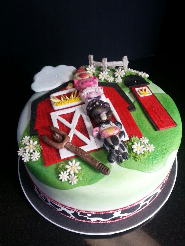 Farm baby shower cake