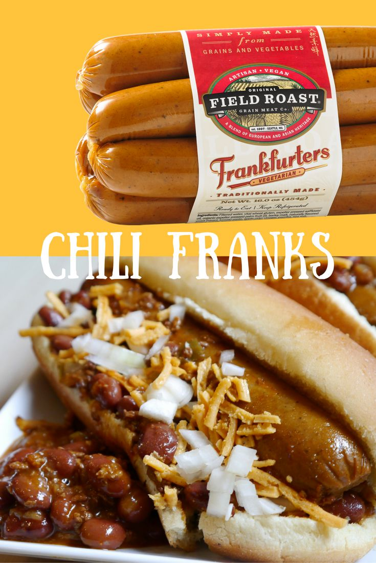 The best Vegan Hot Dog smothered in chili is so yummy!