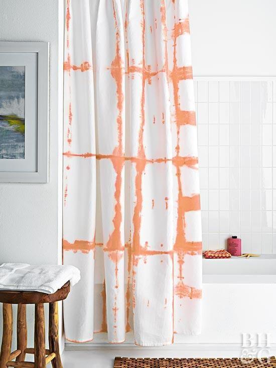 Budget Friendly DIY Grid Shower Curtain