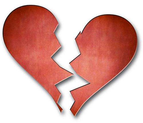 The price of love's highs means that sometimes there are lows! Tell them your heart is broken.