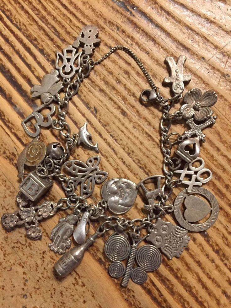 James Avery Sterling Silver Charm Bracelet  with Retired Charms #JamesAvery