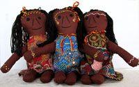 Handmade Aboriginal Doll Aboriginal Woman  handmade in Australia designed by Nola Turner-Jensen (Wiradjuri)  comes with unique Wiradjuri name size:  38cm  Price:  $60.00 each