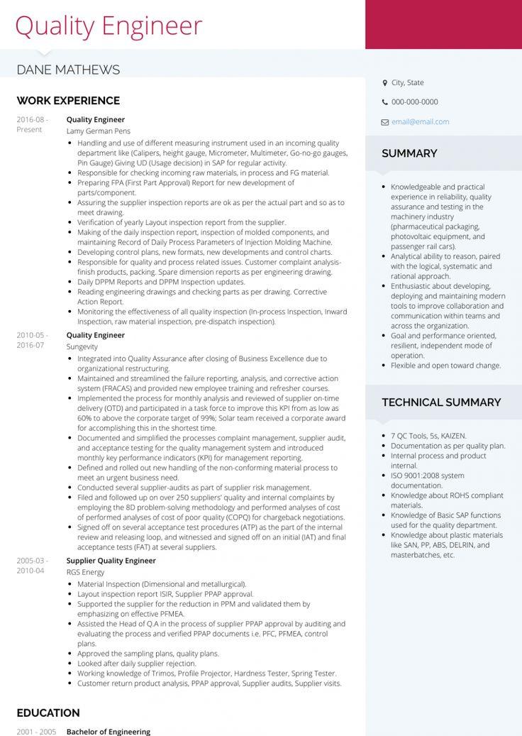 qa engineer resume download