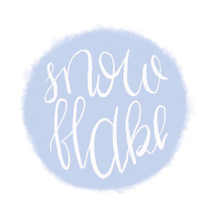 Snowflake Handlettering Lettering Ipad pro