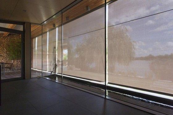 Cortinas para protección de sol en cabañas
