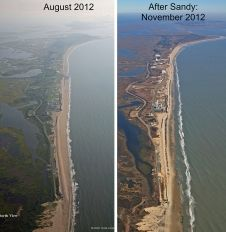 Nov. 7, 2012 - Hurricane Sandy Changes Coastline in New Jersey