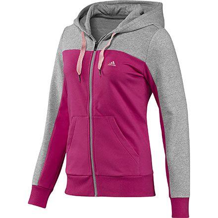 Chaqueta de chándal con capucha Essentials Mujer, Blast Pink / Medium Grey…
