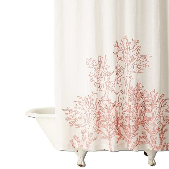 Climbing coral shower curtain from Anthropologie