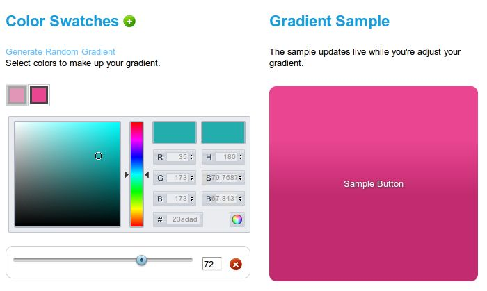 For many web designs images which consist of colour gradients are used for background images, footers and headers. But since the web is all about loading times and trying to speed up your site loading…