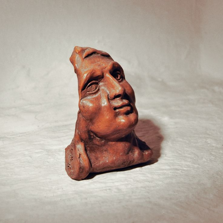 Terracotta sculpture Subject: head of St. Anne from the wooden choir of St. Anne's Chapel in the Ventimiglia Castle, Castelbuono. 597 g St Anne