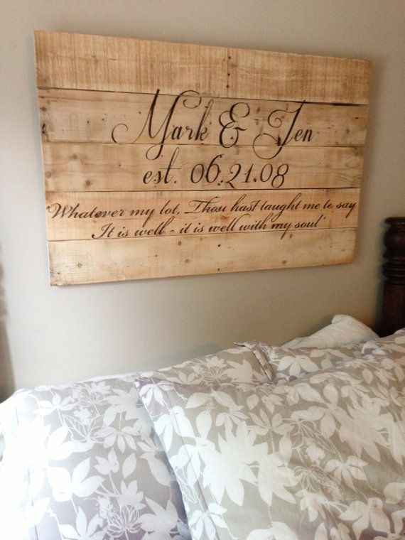 Custom Reclaimed Wood Sign by RepurposedGems on Etsy