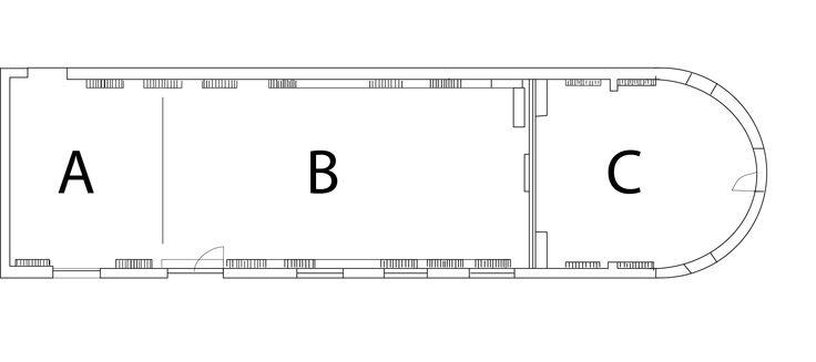 Pianta aula A-B-C bianco e nero