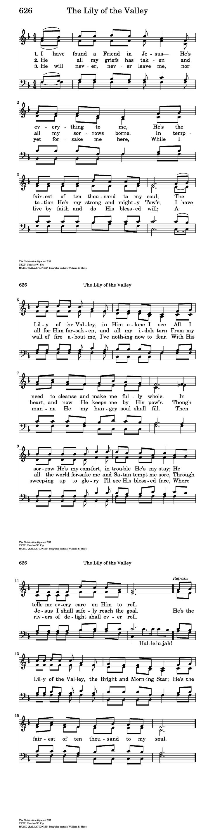 The Lily of the Valley - Hymnary.org