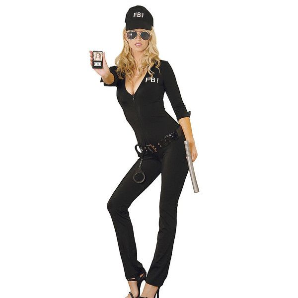 Sexy FBI Agent Womens Costume ($50) ❤ liked on Polyvore featuring costumes, halloween costumes, multicolor, sexy women halloween costumes, sexy costumes, womens halloween costumes, sexy ladies halloween costumes and sexy halloween costumes