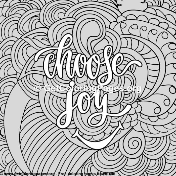Funny Sayings Choose Joy Coloring Pages Funny Coloring Book