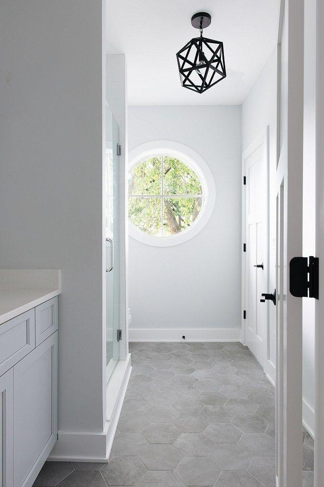 Hex Floor Tile Badezimmer Boden Attitude Sechseck matt 8.5×10 einfache graue Fliese #HexFloortile #BathroomFlooring #hextile # bathroomdesign10x5