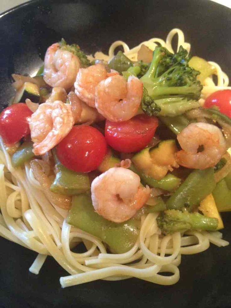 Wok de légumes aux crevettes - Rachel et sa cuisine gourmande et légère