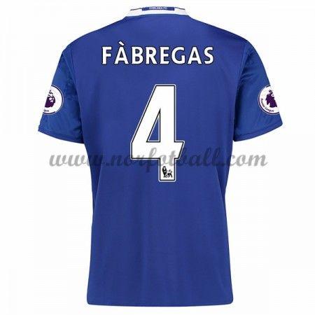 Billige Fotballdrakter Chelsea 2016-17 Fabregas 4 Hjemme Draktsett Kortermet