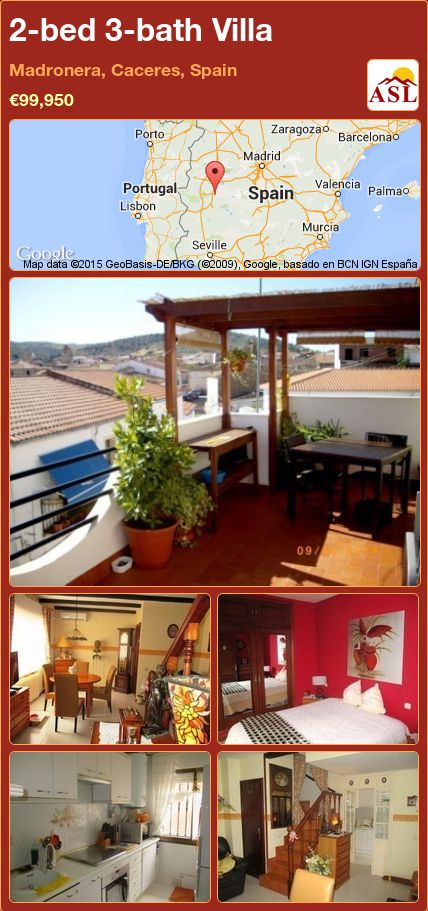2-bed 3-bath Villa in Madronera, Caceres, Spain ►€99,950 #PropertyForSaleInSpain