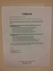 Grimm (TV series) - Wikipedia, the free encyclopedia