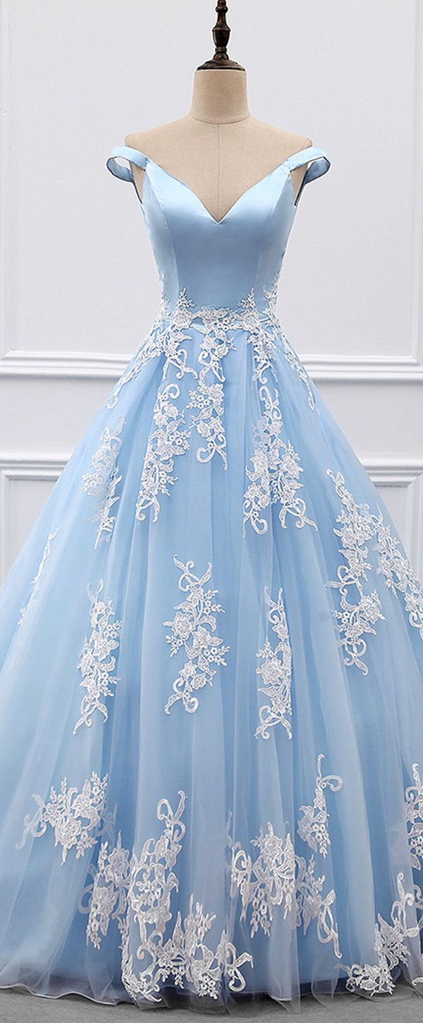 Marvelous Satin & Tulle Off-the-shoulder Neckline A-line Evening Dresses With Beaded Lace Appliques