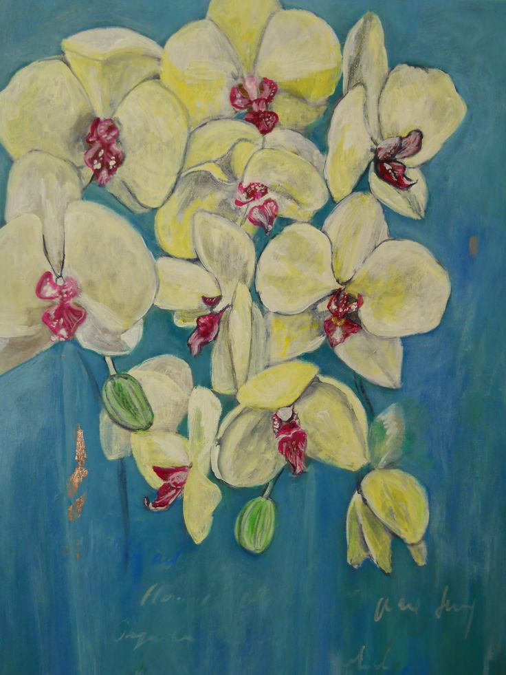 """""""Orchids"""" Acrylic on canvas"""