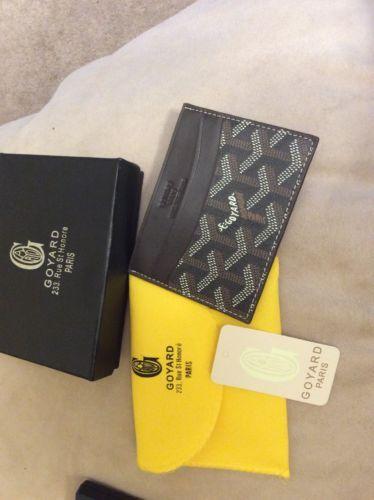 Brown Goyard Card Holder brand new