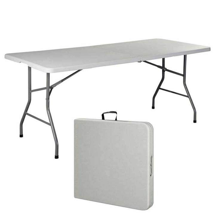 Giantex Folding Table Folding Table Camping Table Plastic Picnic Tables