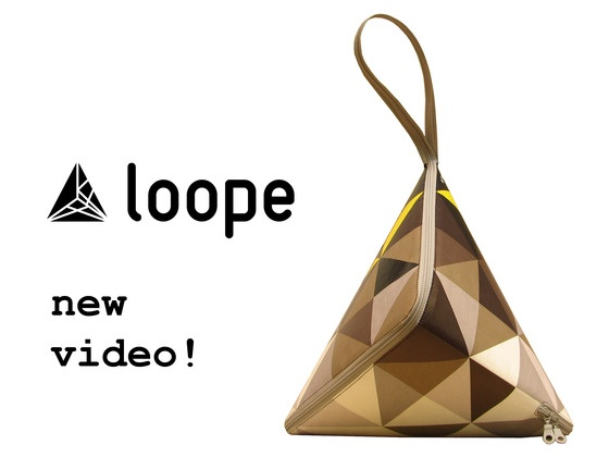 What an awesome purse design!!  Loope, the one piece bag by loope design studio, via Kickstarter. I'm definitely backing it.