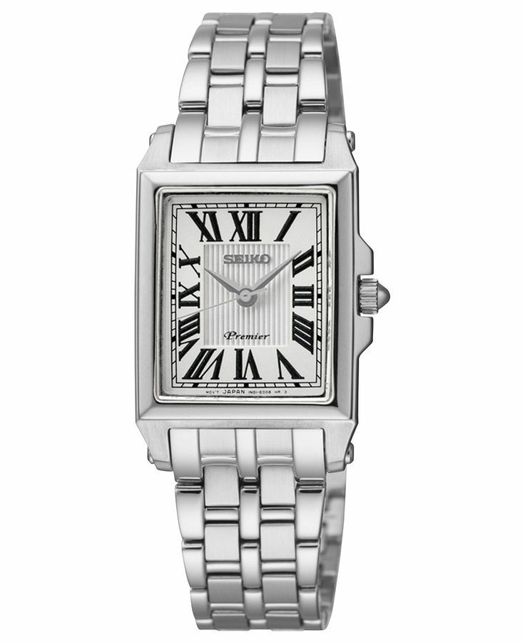 Seiko Watch, Women's Premier Stainless Steel Bracelet 22mm SXGP11 - Women's Watches - Jewelry & Watches - Macy's