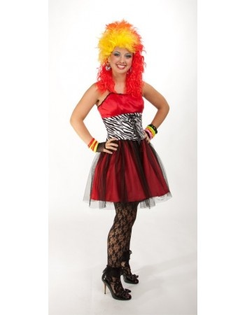80's True Colors Designer Dress Costume