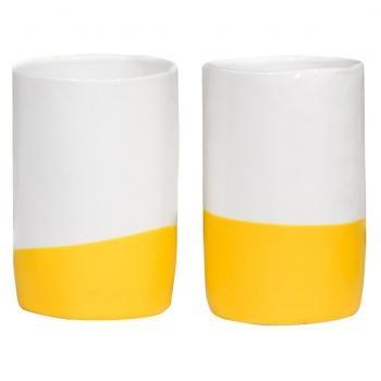 yellow handmade cup