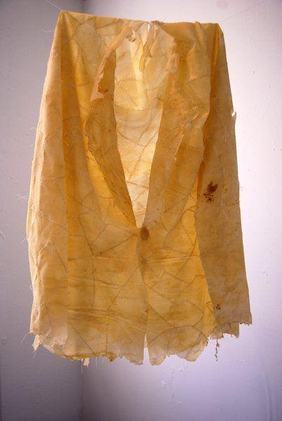 Katharine Lawrie  Latex Jacket __  latex, cotton thread.   2008