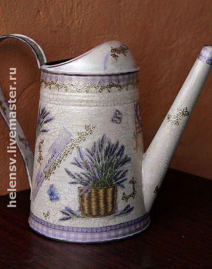 """Лейка """"Лаванда"""" - лейка,полезный подарок,бледно-сиреневый,лаванда,ручная работа handmade"""