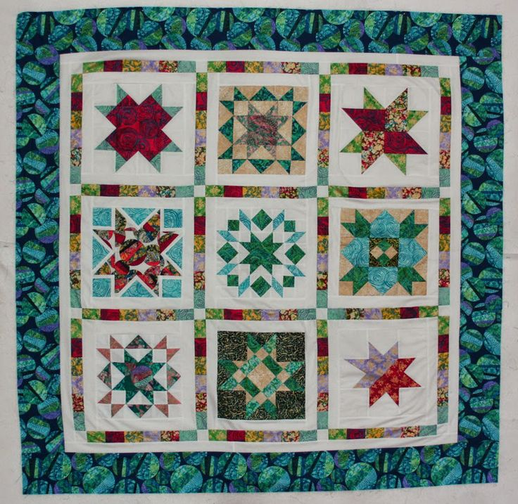 Tutorial: Star Sampler Quilt Assembly Links to block tutorials at bottom of page.