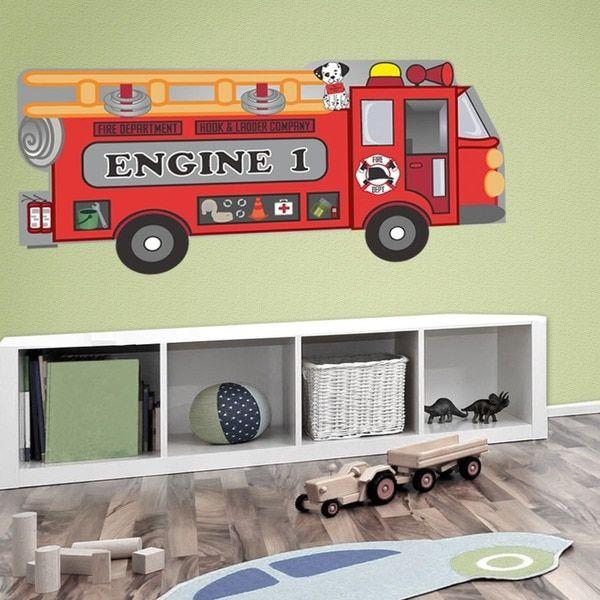 PEEL & STICK BIG Fire Truck Decal