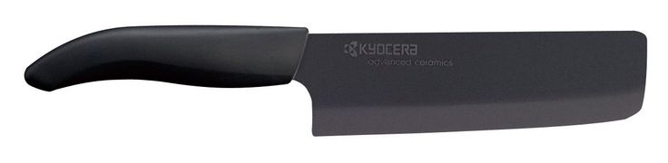 Kyocera Advanced Ceramic Revolution Series 6-inch Nakiri Vegetable Cleaver, Black Blade * To view further for this item, visit the image link.
