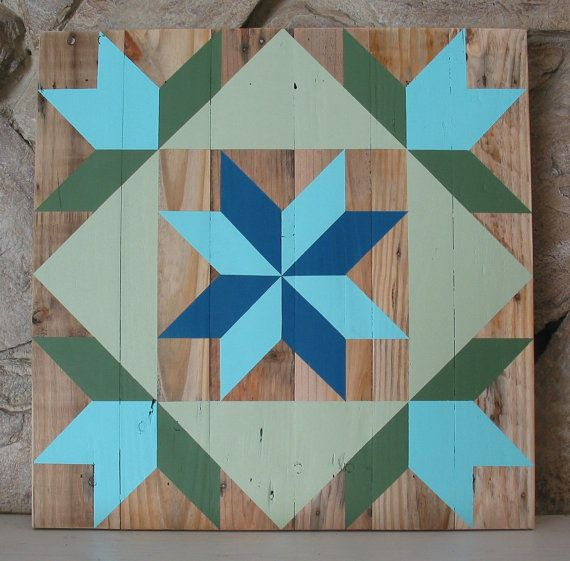 This Rustic Barn Quilt Hand Crafted From Reclaimed Pallet