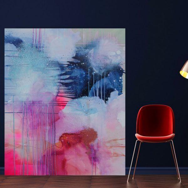 In The Evening 80x80 Cm Pa Galleri Mette Lindberg Abstrakte Malerier I 2019 Malerier Abstrakte Malerier Og Maleri Inspiration