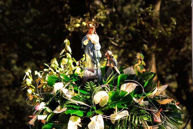 La romería se celebra en recuerdo de un hecho milagroso ocurrido el 21 de agosto de 1653, con ocasión del hallazgo de la imagen de la Virgen impresa sobre los bulbos de unos lirios silvestres. #Alcoy #Alcoi #romería
