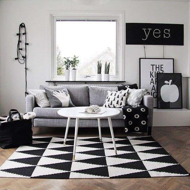 Tendenze arredamento soggiorno 2016 - Bianco e nero