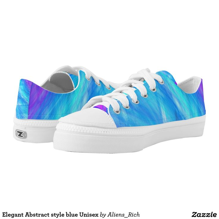 Elegant Abstract style blue Unisex Low-Top Sneakers